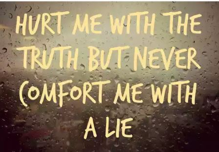 hurt with truth-we