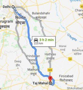Delhi-Taj mahal